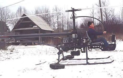 Его вертолет продольной схемы